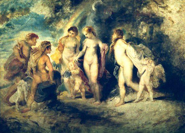 Juicio de Paris, Rubens 1590-1600 aprox.
