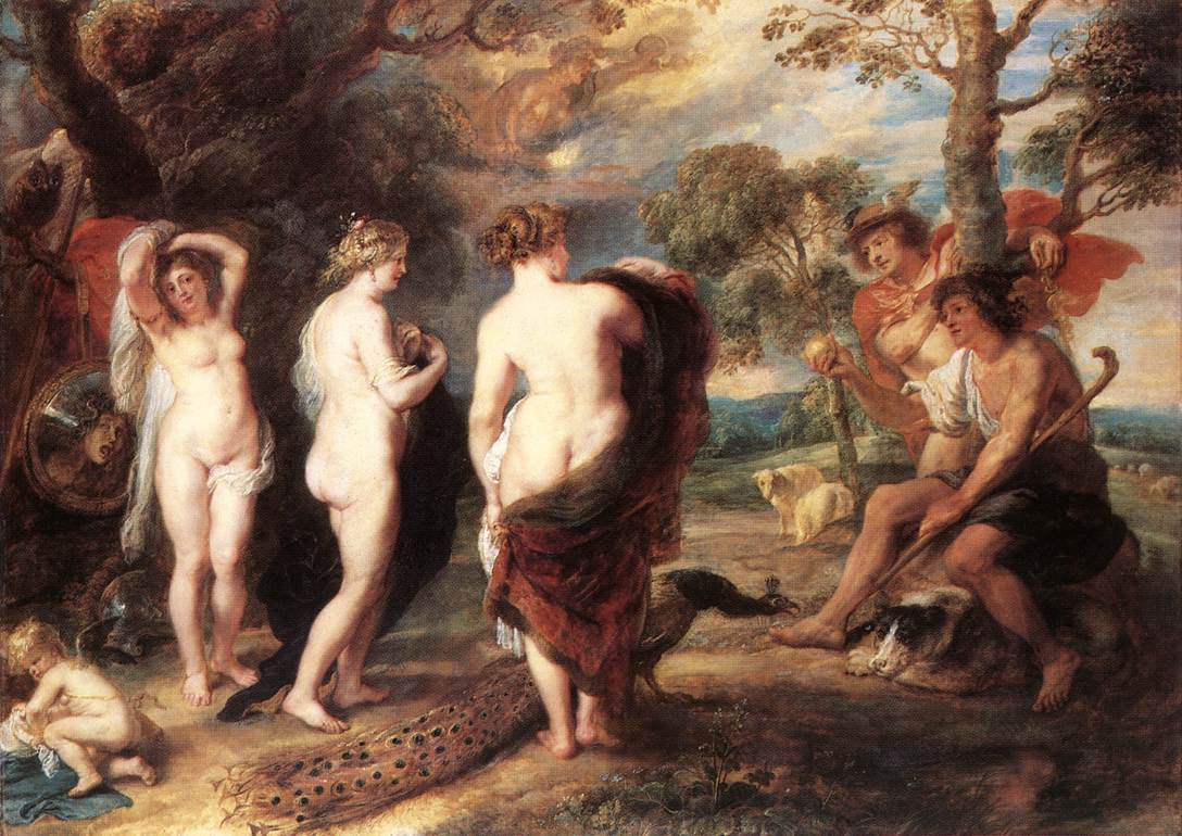 Juicio de Paris, Rubens (1636, aprox.)