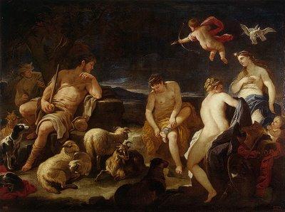 Juicio de Paris, Luca GIordano (1681 aprox.)