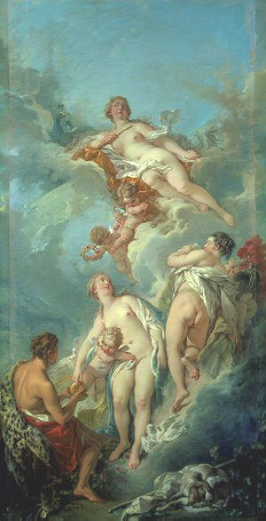 Juicio de Paris, François Boucher. 1754.