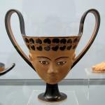 Cántaro janiforme de figuras negras, de Jonia, c.540 a.e.